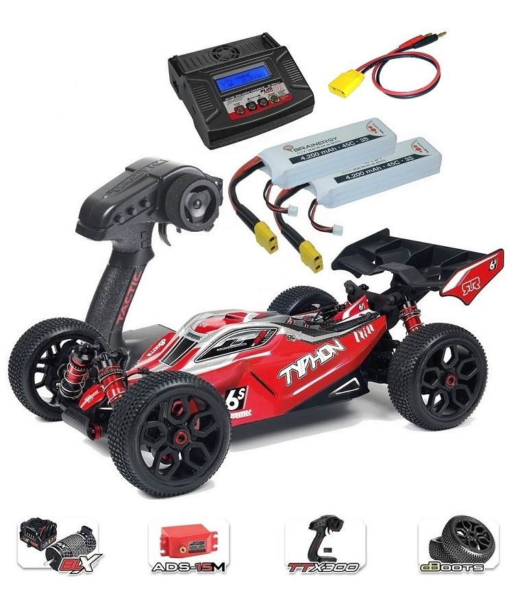 ARRMA TYPHON 6Sv2 BLX 4WD Race Buggy 1/8 RTR - SPARSET 4 -