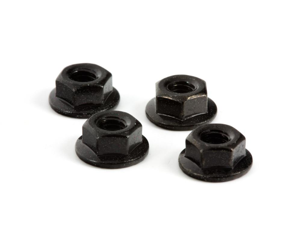 Arrma RC Radmuttern 4mm schwarz  (4)