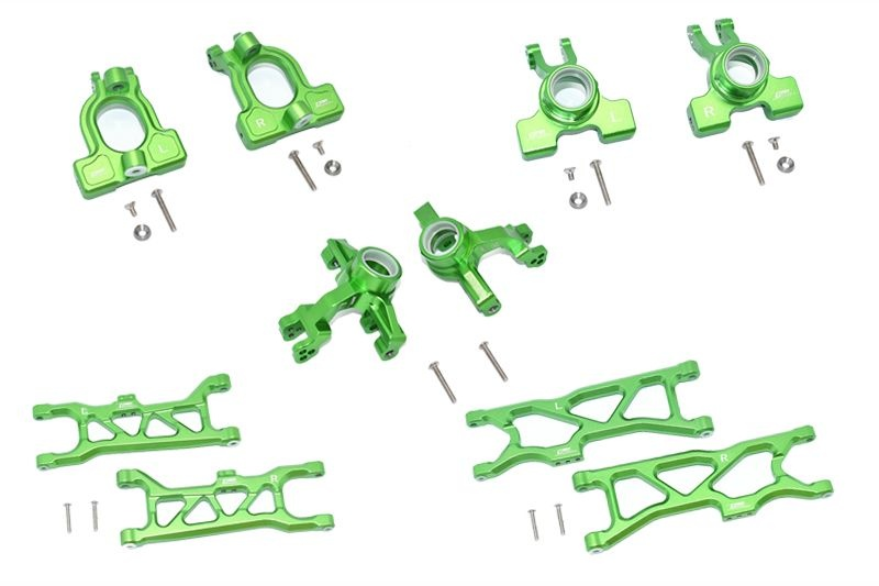GPM Aluminum Front C-Hubs,F&R Knuckle Arms+F&R Lower Arms
