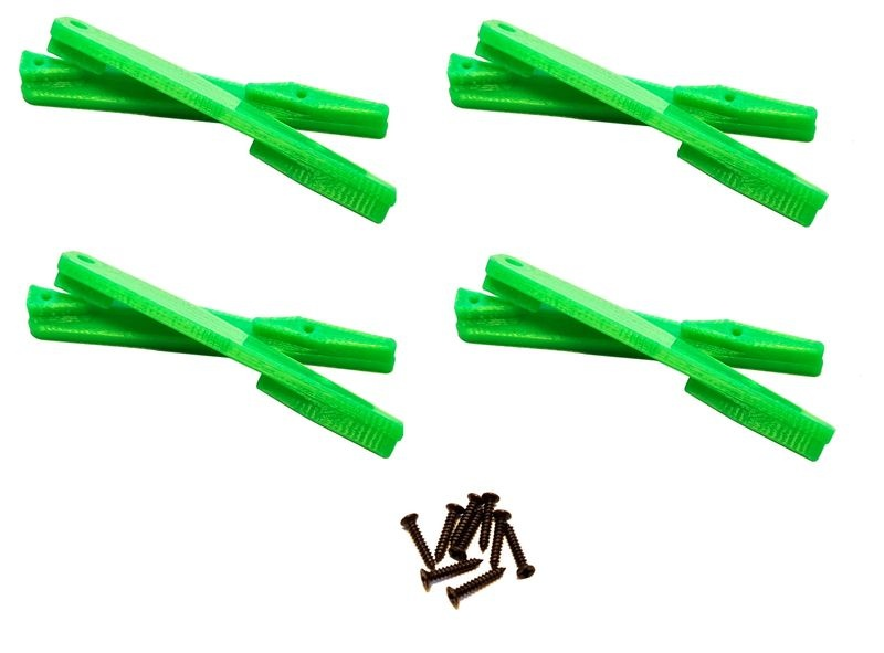 JS-Parts Einleger Querlenker oben für Team Magic E6 grün