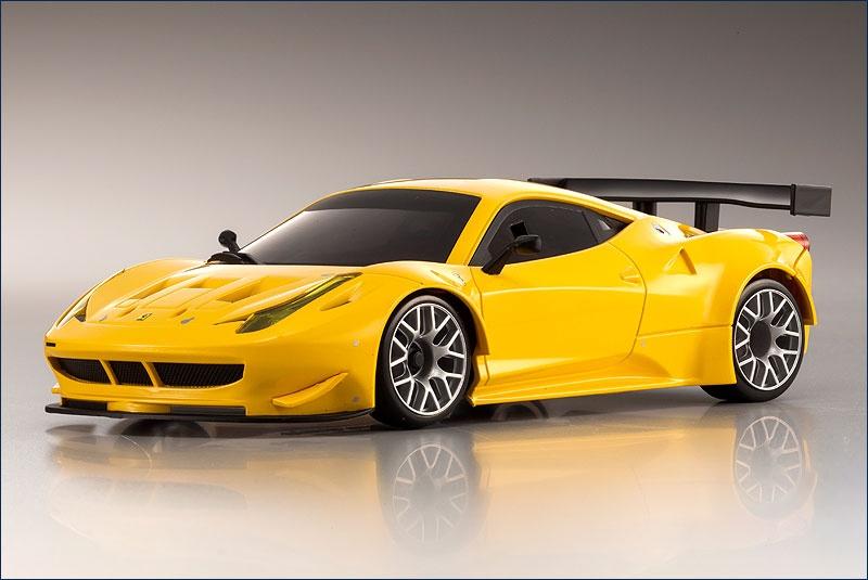 Kyosho BK # Mini-Z MR-03 Ferrari 458 GT2 gelb ARR 1:28