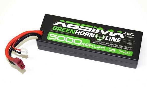 Absima LiPo Stick Pack 7.4V-45C 5000 Hardcase (T-Plug)