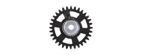 NSR SW 3/32 Soft Plastic Gear/Zahnrad 32T w/alu hub
