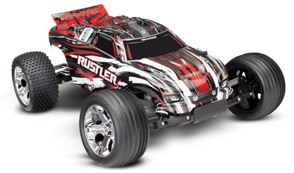 Traxxas Rustler 2WD Stadium Truck (12T+XL-5) 2.4GHz rot