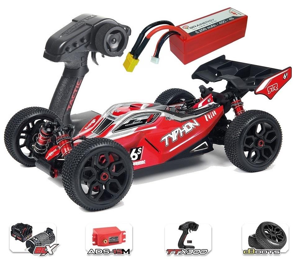 ARRMA TYPHON 6Sv2 BLX 4WD Race Buggy 1/8 RTR - SPARSET2 -