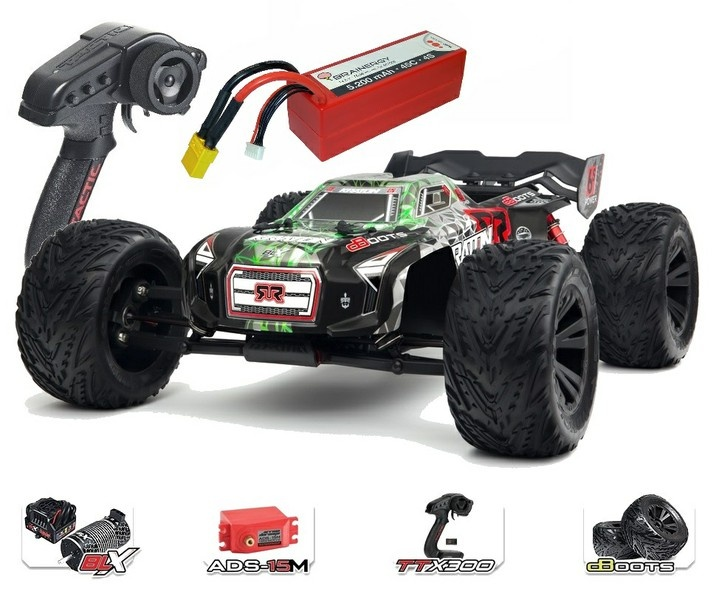 Arrma Kraton 6s BLX 4WD Monstertruck RTR, grün - SPARSET1 -