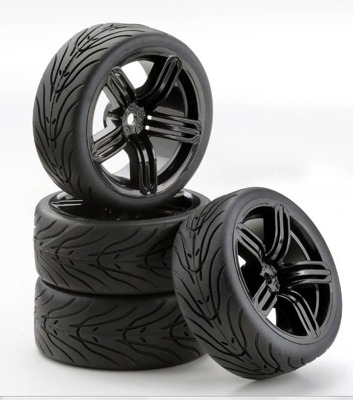 Carson SC-Räder 6S Style schwarz, 4 Stück