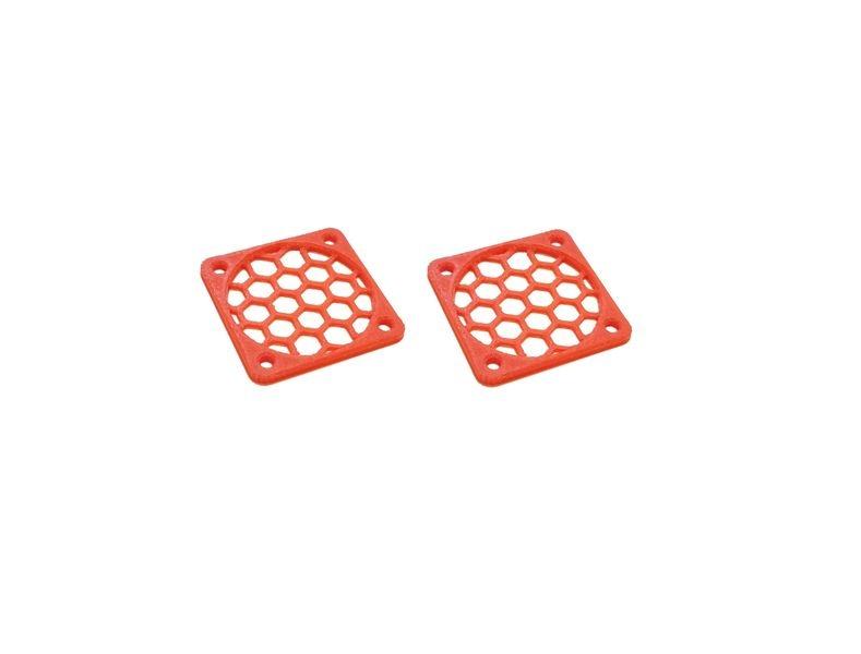JS-Parts Lüftergitter 30mm / 2 Stück (Set) rot