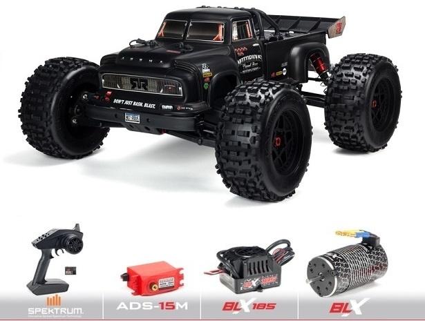 Arrma 1/8 NOTORIOUS 4WD BLX Stunt Truck 6S RTR, Schwarz