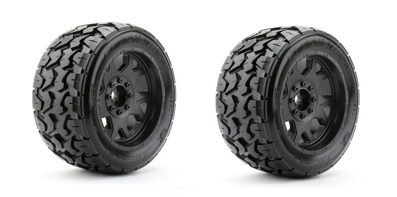 JETKO Extreme X-MT Tyre Tomahawk Belted on Xmaxx Black