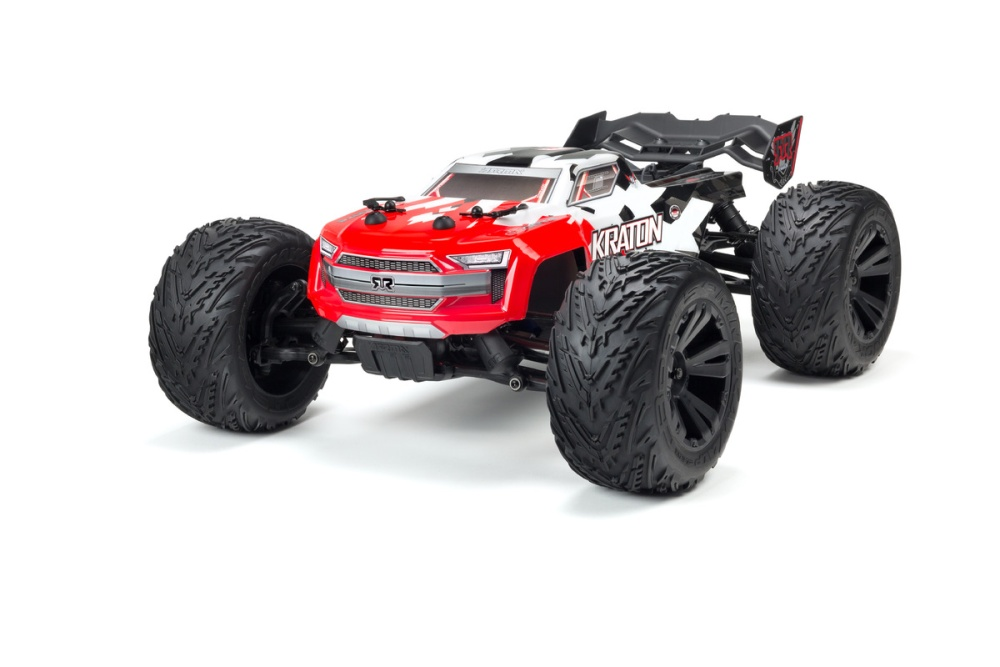 Arrma Kraton 4x4 BLX Painted Decaled Trimmed Body Red
