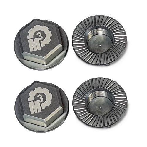 MMM Radmuttern-Set 17mm aus 7075 Aluminium - grau