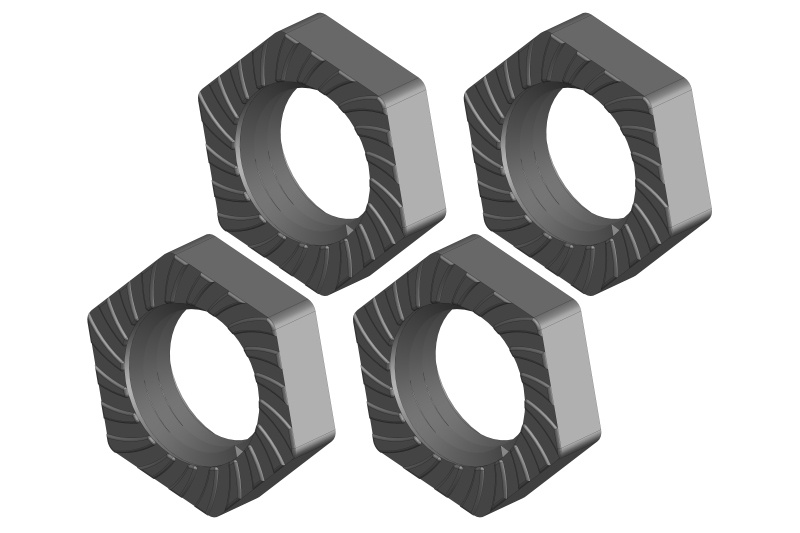 Team Corally Wheel Nut - Aluminum - 4 pcs