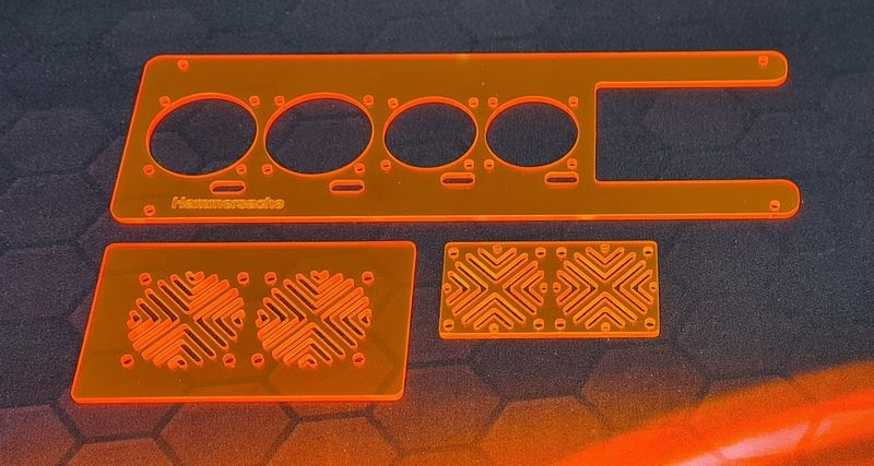 JS-Parts Lüfterhalter-Set für Traxxas X-Maxx Plexiglas