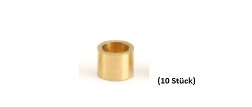 NSR Axle Spacers/Achsdistanzen 3/32 .100 BRASS (10)
