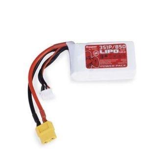 Graupner Power Pack LiPo 3S / 850 mAh, 11,1 V, 50 C, XT-60