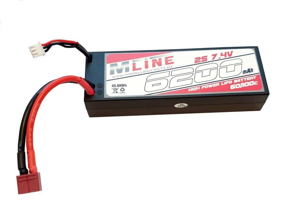 MLine High Power LiPo Akku 60C 2S 7,4V 6200mAh T-Plug
