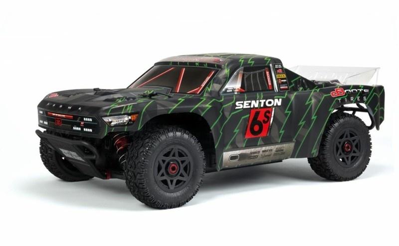 Arrma RC Senton V3 6S BLX 4WD SC Truck 2.4GHz RTR 1:10