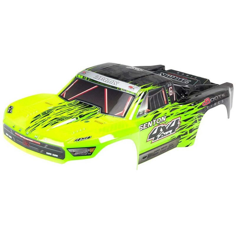 Arrma Painted Body with Decal Trim, Green: Senton 4x4 BLX