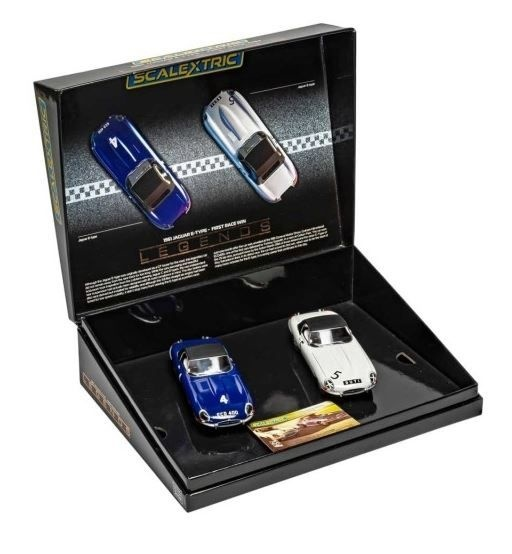Scalextric 1:32 Jaguar E-Type 1st Win 61 Twin Pack HD
