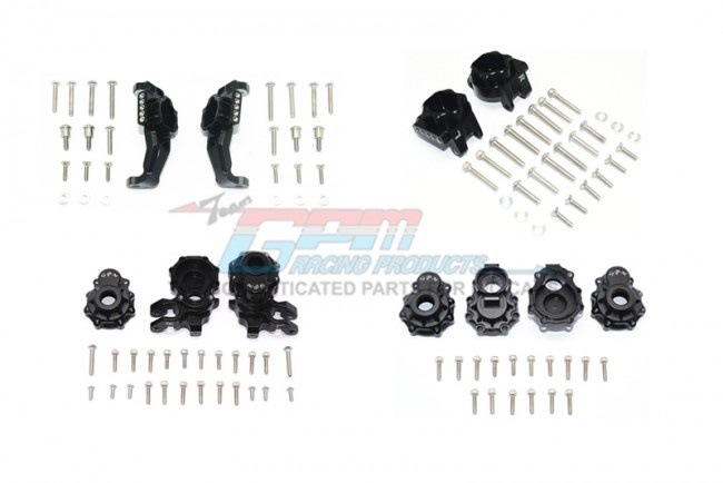 GPM aluminium front + rear c hub, rear gear box mounts,