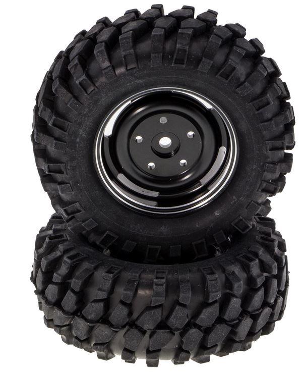 Monstertronic Crawler Räder Alu schwarz 96x40mm 1:10, 2 Stk.
