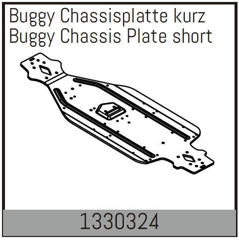 Absima Buggy Chassisplatte kurz