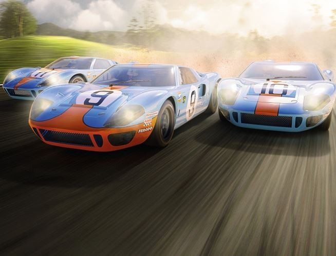 Scalextric 1:32 Ford GT40 1968 - Gulf Triple HD