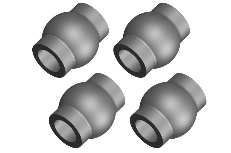 Team Corally Ball - 5.8mm - Steel - 4 pcs