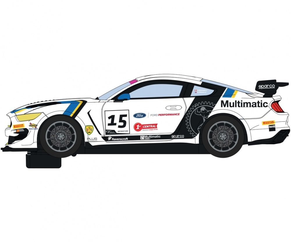 Scalextric 1:32 Ford Mustang GT4 Brit. #15 GT19 HD