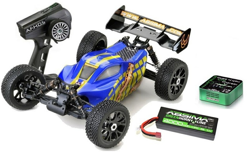 Absima EP 4WD Buggy AB2.8BL BL 2.4GHz RTR 1:8 -SPARSET-