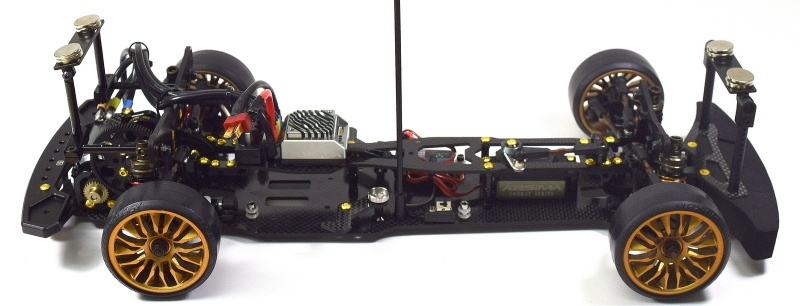 Absima Aluminium Magnet Karosseriehalterung - Set v/h schwar