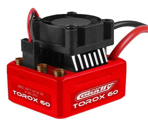 Team Corally Speed Controller- TOROX 60 - Brushless -2-3S
