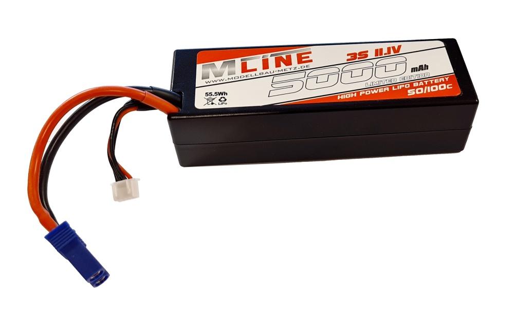 MLine High Power LiPo Akku 50/100C 3S 11,1V 5000mAh EC5