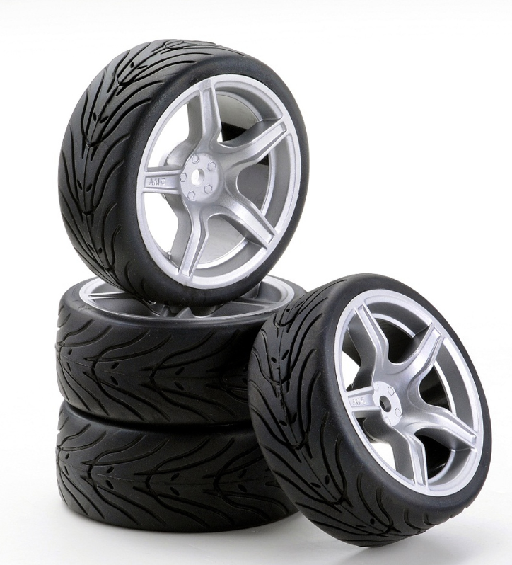 Carson SC-Räder AMC Style silber, 4 Stück