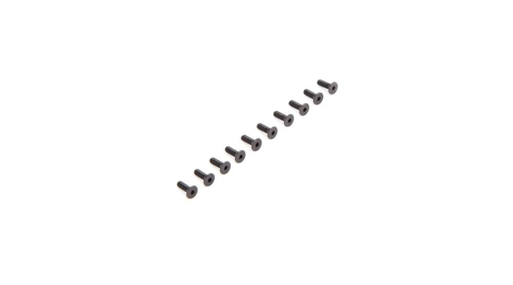 Losi Flat Head Screws M2.5 x 8mm (10) (LOS235009)
