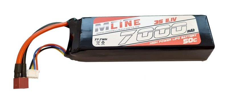 MLine High Power LiPo Akku 50C 3S 11.1V 7000mAh