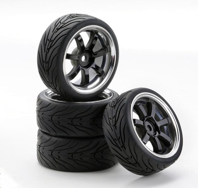 Ansmann SC-Räder W7 Style chrom/schwarz, 4 Stück