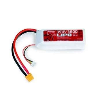 Graupner Power Pack LiPo 3S / 3600 mAh, 11,1 V, 30 C, XT-60