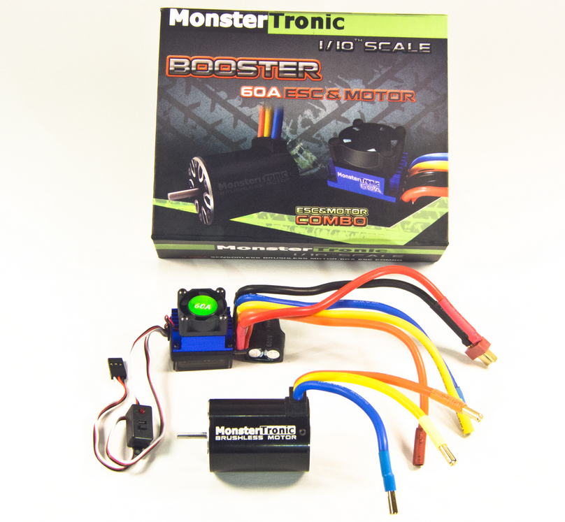 Monstertronic Brushless Power-Set 12T 3100KV 60A 1:10