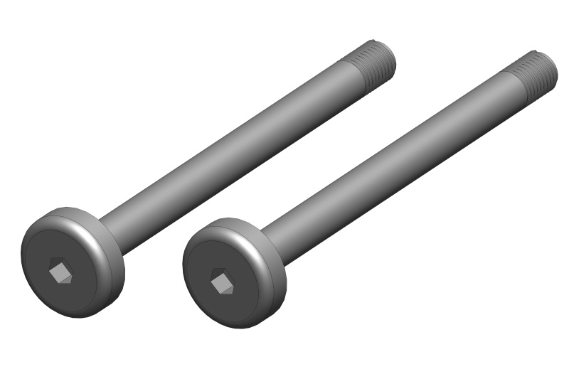 Team Corally Hinge Pin - Outer - Steel - 2 pcs