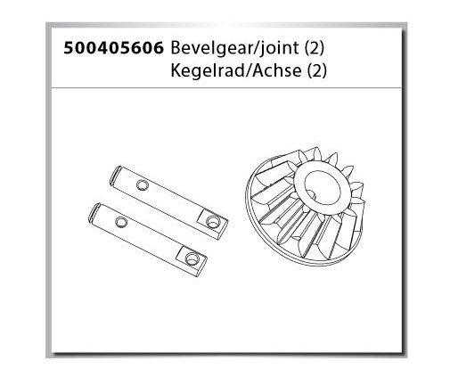 Carson X-Crawlee Pro Bevelgear/joint/ Kegelrad/Achse (2)