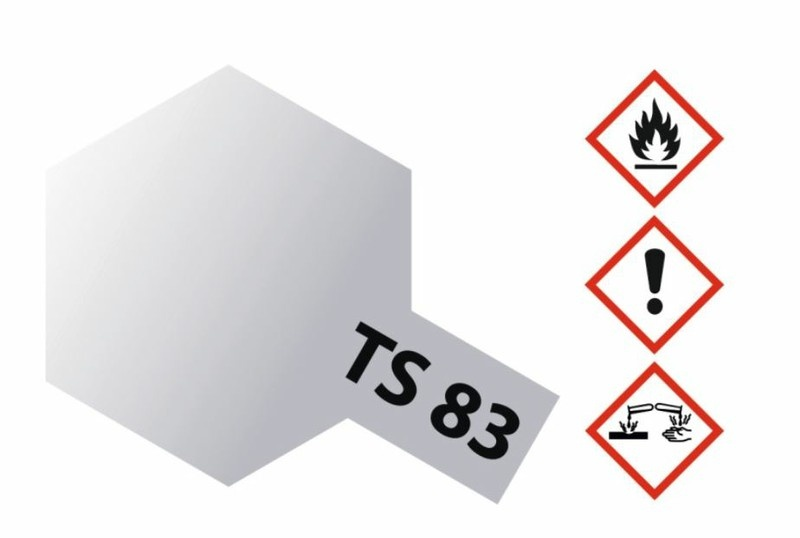 Tamiya Acryl-Sprühfarbe TS-83 Metallic Silber glänzend 100ml