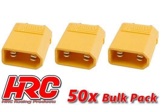 HRC Racing Stecker - Gold - XT30 - männchen (50 Stk.)
