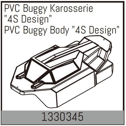 Absima PVC Buggy Karosserie 4S Design