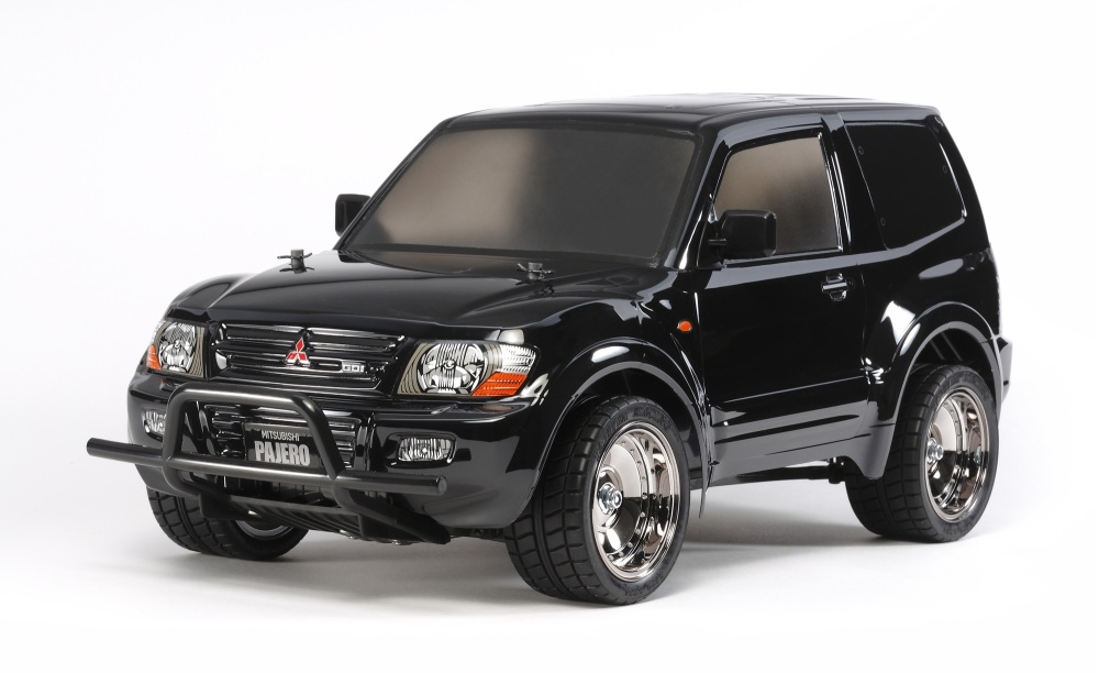 Tamiya RC Mitsubishi Pajero Lowrider Black (CC-01) Bausatz