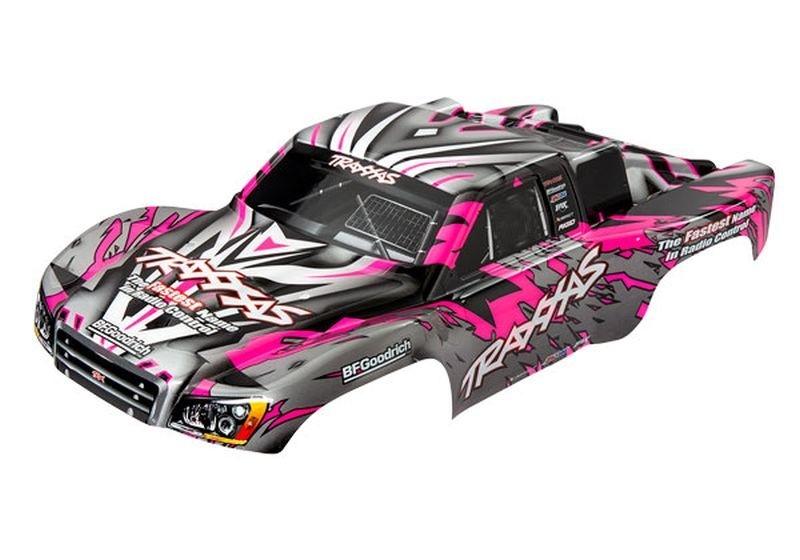 Traxxas Karo SLASH 4x4, pink mit Aufkleber TRAXXAS