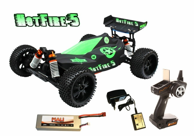 DF Models HotFire 5 1:10XL Line 4WD BL Buggy 2.4GHz RTR 1:10