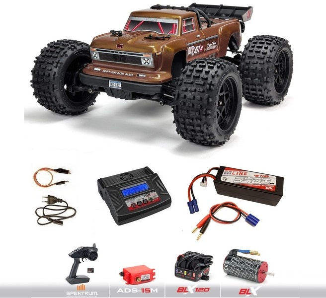 Arrma OUTCAST 4x4 4S BLX 4WD Brushless Truggy -Bronze-