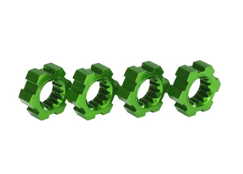 Traxxas Radmitnehmer, Sechskant, Alu (grün-eloxiert) (4)